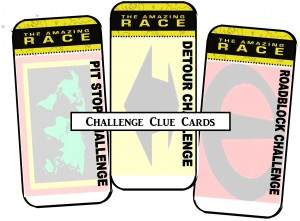 Amazing race printables review concert katie for The amazing race clue template