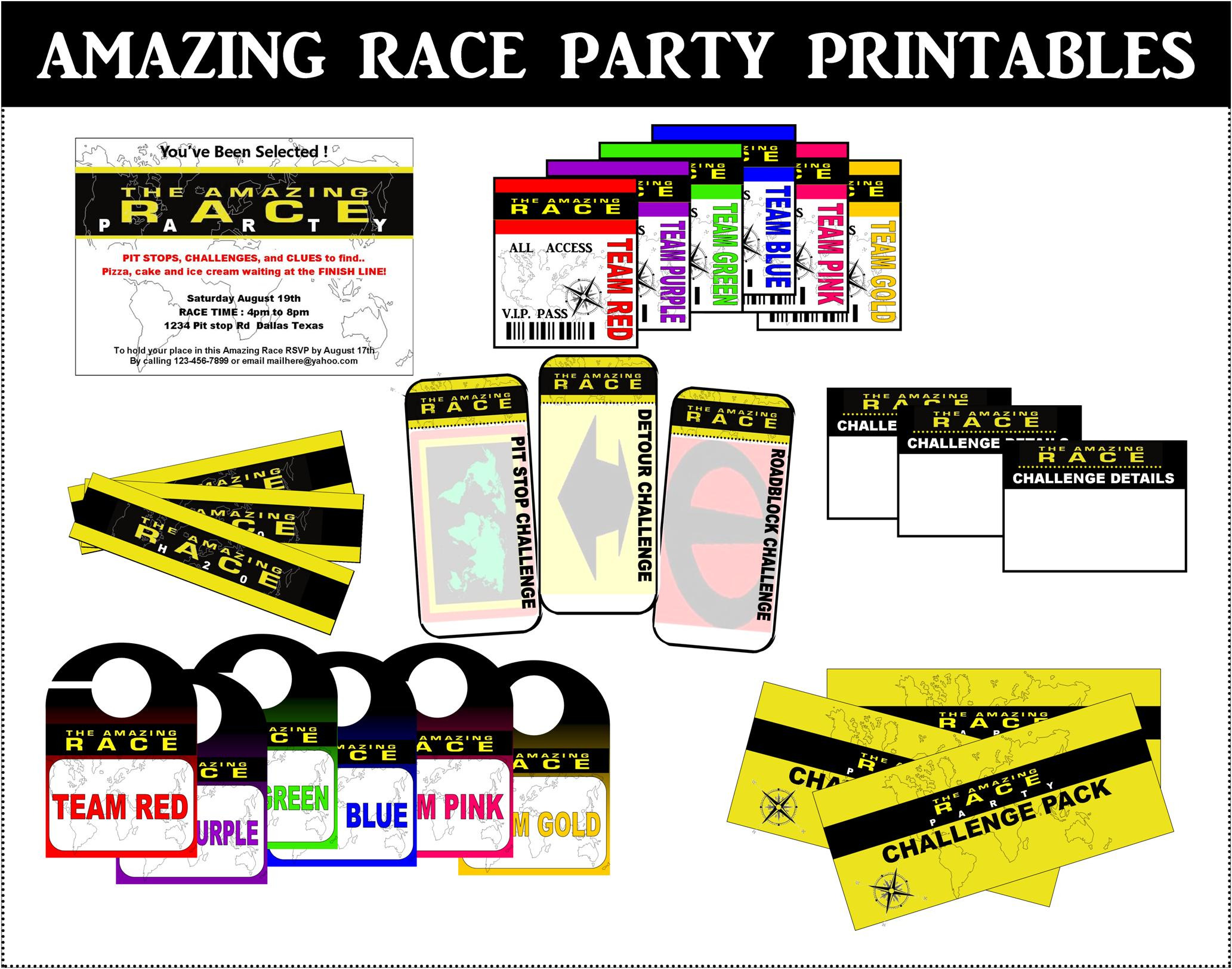 Pin Clues Printables Free 50th Birthday Party Games